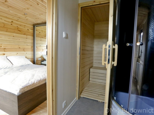 Wooden Mobile home with sauna DMK Budownictwo