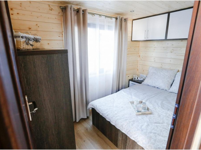 Mobile homes, homes on wheels, wooden interior, wooden mobile home